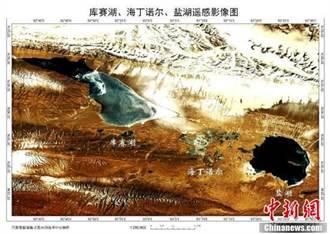 遙感監測青海可可西里湖泊動態封凍:宛如碧玉