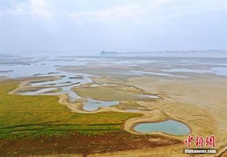 陸最大淡水湖鄱陽湖水位持續下降