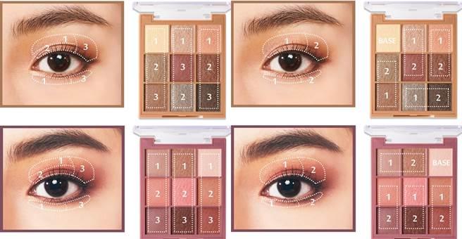 使用二色或使用三色都能打造出富有層次感的眼妝。(圖/品牌提供)