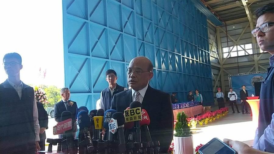 行政院長蘇貞昌表示,年金改革是必要的,但如果改革會發生連帶影響,政府各單位有必要進行整個盤整。(陳淑娥攝)