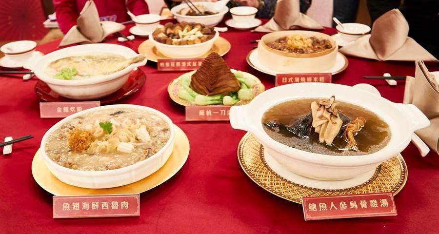 香港米其林二星級年菜「阿一鮑魚--金玉滿堂富貴年菜組」。圖:東森提供