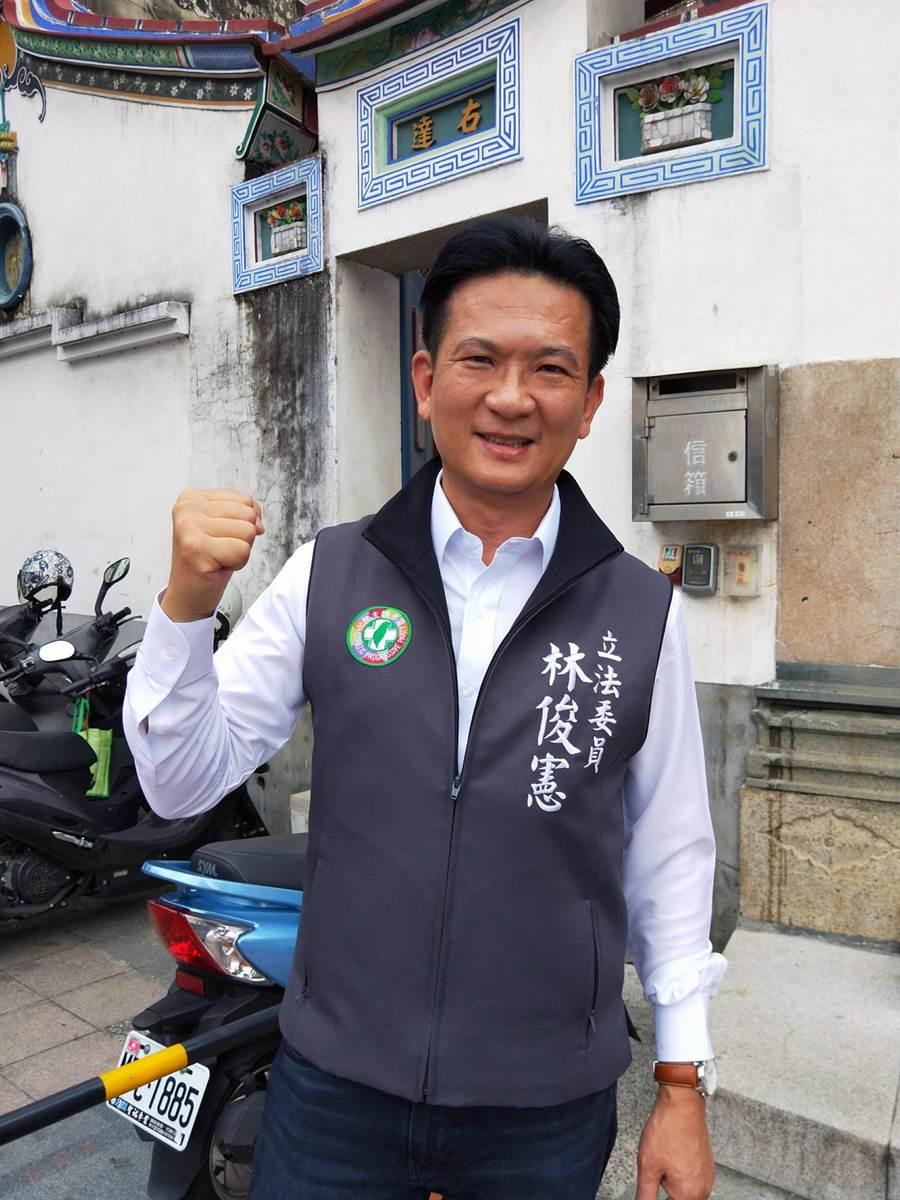 針對蔡淑惠、陳致曉的指控,民進黨台南市第五選區立委候選人林俊憲反斥抹黑。(本報資料照片)
