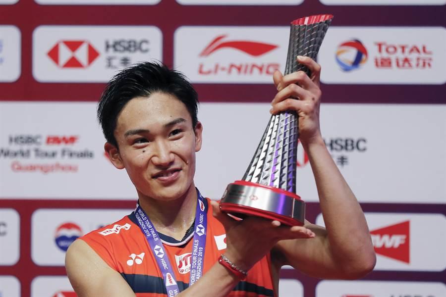 日本羽球一哥桃田賢斗本季勇奪11座冠軍,創下BWF巡迴賽男單單季最多冠紀錄。(資料照/美聯社)