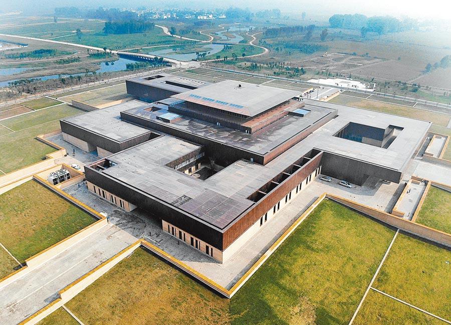 二里頭夏都遺址博物館。(新華社資料照片)