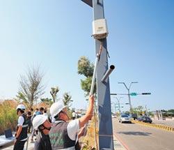 中市328校 架設空氣感測器