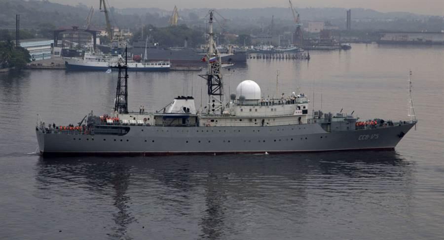 北美空防司令部在官方推特主頁上承認跟蹤俄海軍「列昂諾夫號」偵察艦。(示意圖,美聯社)