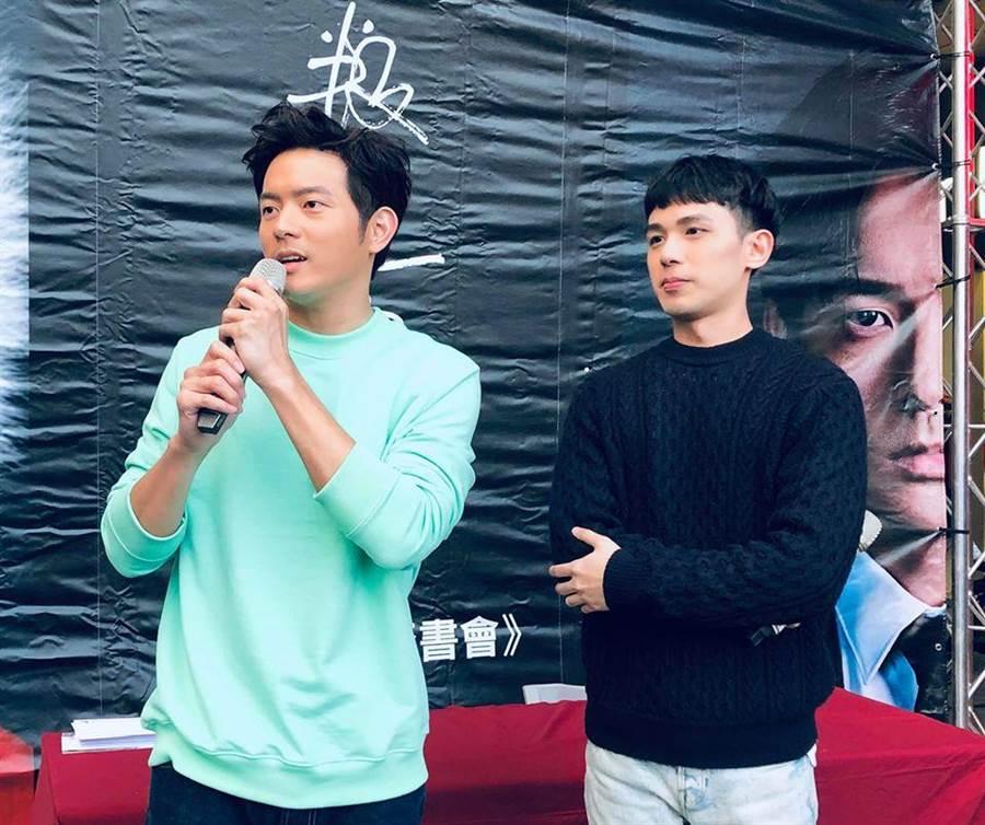 郭柏傑日前主持宥勝新書見面會。(艾迪昇傳播提供)