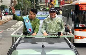 卓榮泰陪張銘祐車隊掃街 籲選民「一7翻轉大文山」