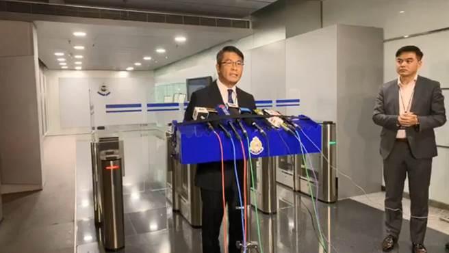 香港警方毒品調查科財富調查組署理高級警司陳偉基表示,查獲洗錢集團疑似與反送中資金活動有關。(圖/文匯網)