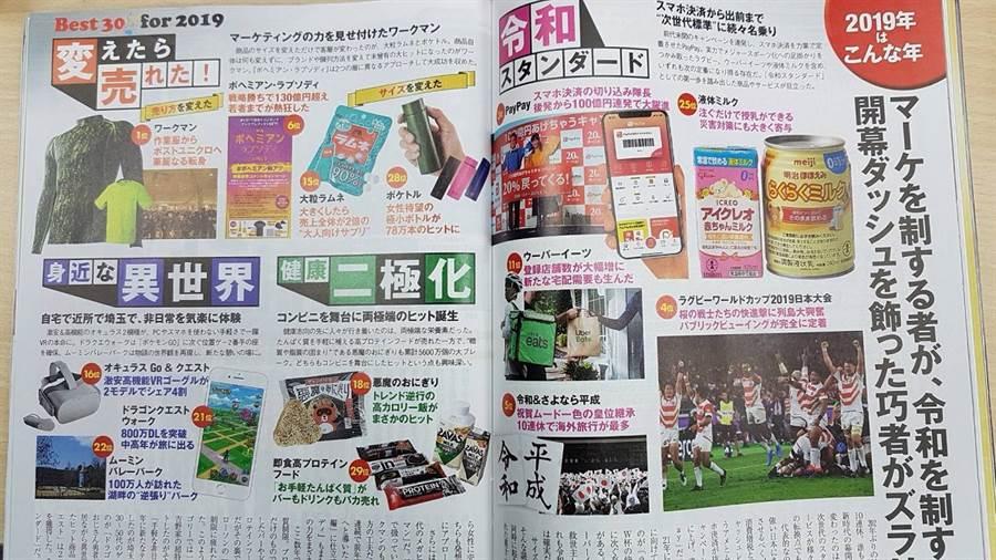 日經TRENDY12月號公布了日本「2019年人氣商品BEST30」。(翻攝自《日經TRENDY》)