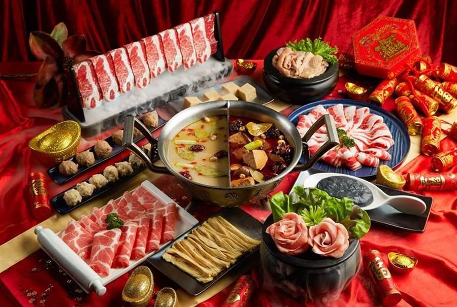 (為擴大搶攻年菜圍爐商機,這一鍋推出「鴛鴦鍋物』套餐。圖/這一鍋餐飲集團)