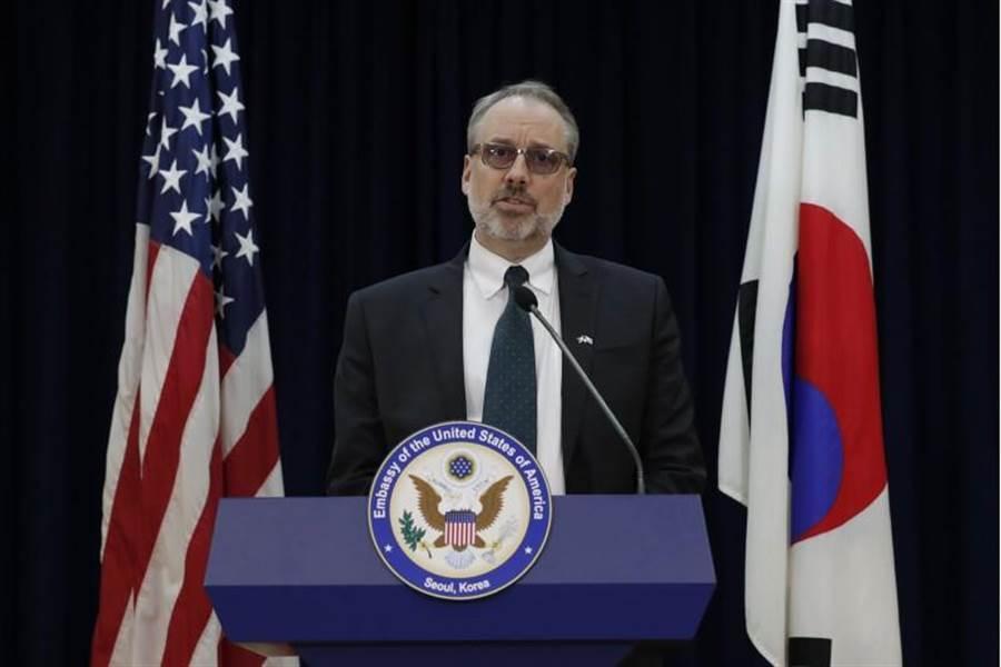 美國和南韓商談防衛費用分擔,負責主談的美方談判代表德哈特(美聯社)