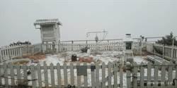 玉山降雪!雪加霰打造夢幻銀白仙境