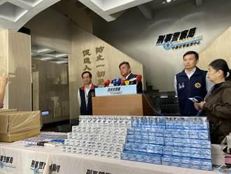 劣質菸草再製出售 檢警查獲3億不法私菸
