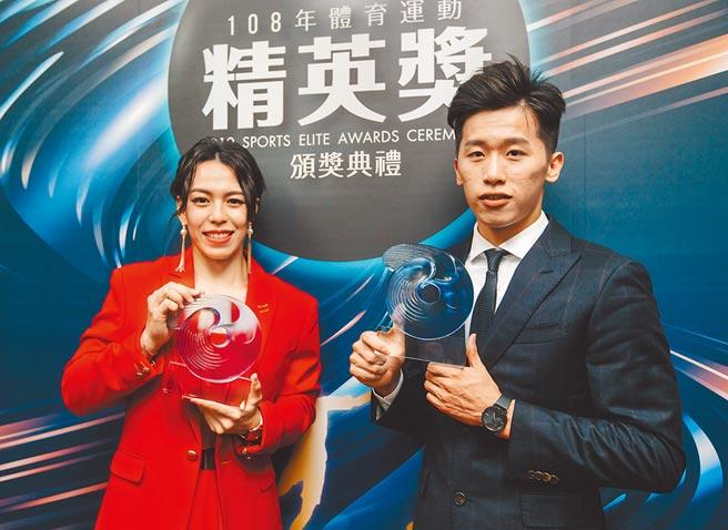 鞍馬王子李智凱(右)感謝國家防疫隊努力,讓奧運國家培訓隊選手能夠安心訓練。(資料照/郭吉銓攝)