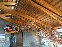 左鎮化石園區迎聖誕  梅花鹿拉雪橇飛上天