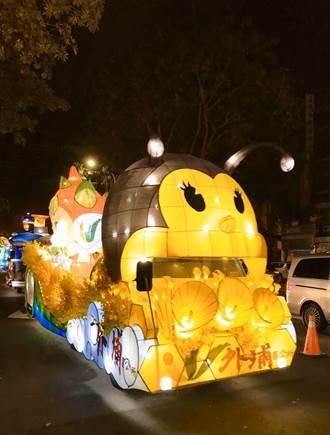 台灣燈會在台中 外埔花燈車由蜜蜂領軍