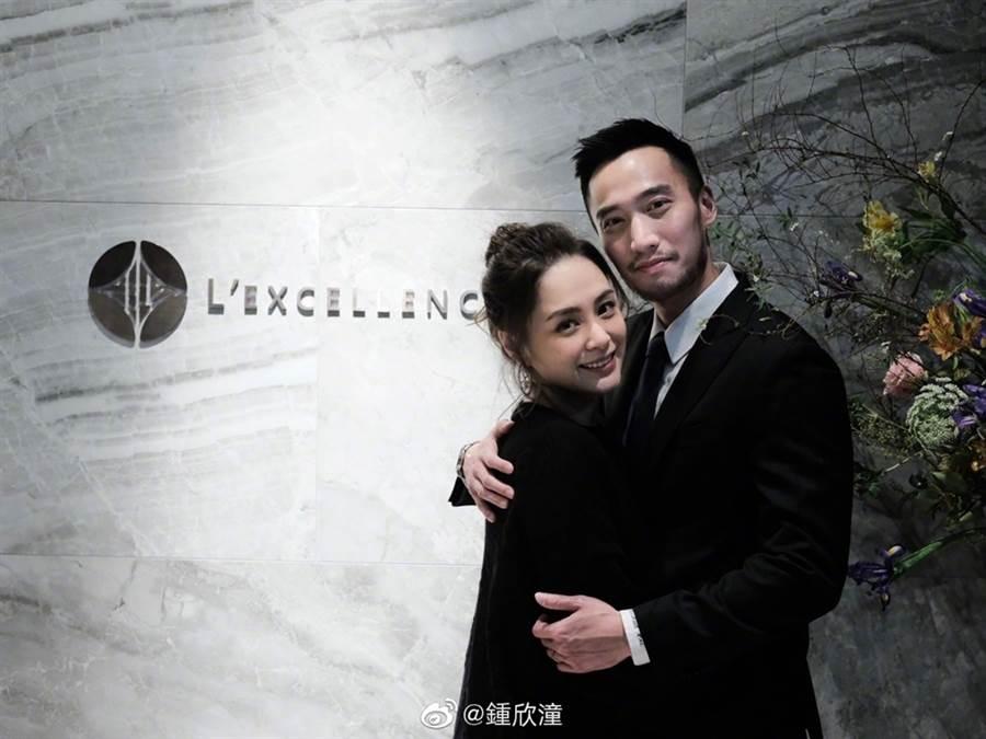 阿嬌和賴弘國2018年結婚。(圖/翻攝自鍾欣潼微博)