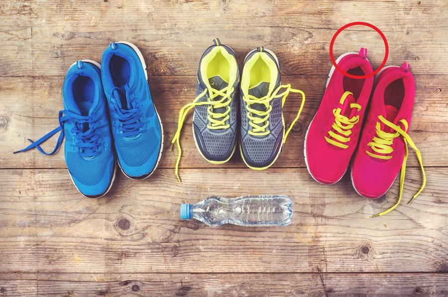 運動鞋後為何都有小圈 功能不簡單(示意圖/達志影像)