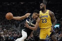 NBA》字母哥詹姆斯 獲上周東西區最佳