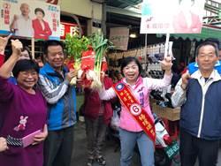楊瓊瓔市場拜票 要用雙腳走遍選區