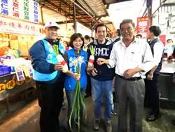 小馬哥陪黃馨慧市場拜票 攤商送大蒜祝「凍蒜」
