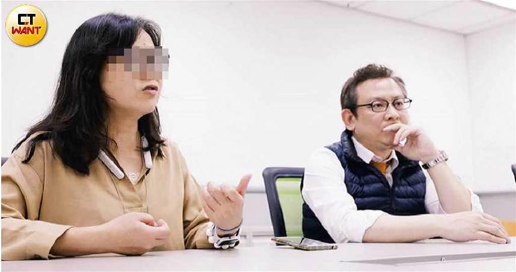 被害人吳小姐一度放棄討公道,在律師葛彥麟協助下,順利起訴這個詐騙集團。(攝影/趙世勳)
