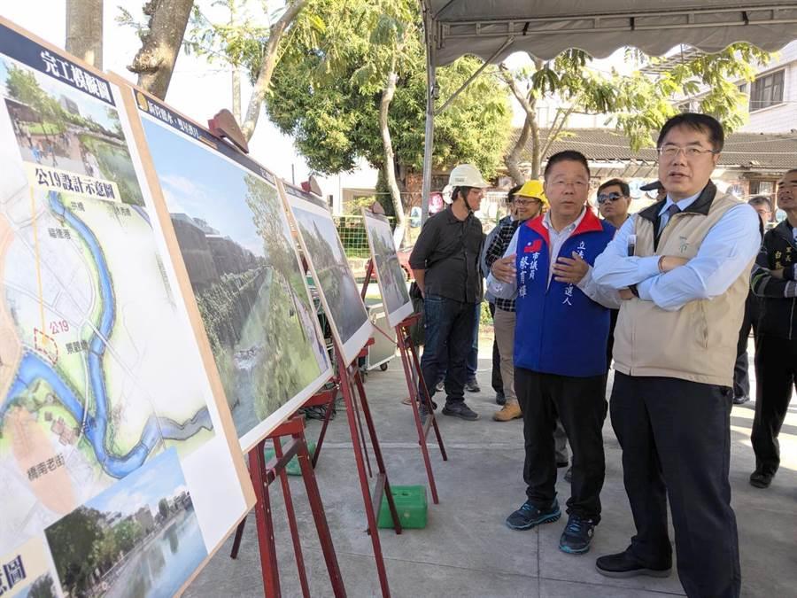 蔡英文台南市競選總部主委、市長黃偉哲評估南市選情,指出第一選區藍綠雙方差距拉近,還得再努力。(莊曜聰攝)
