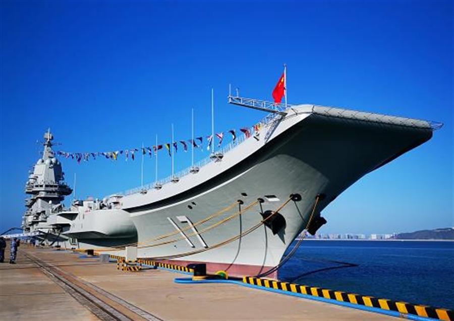 最早傳出大陸國產航母山東艦能搭載36架艦載機是來自於官方中央電視台的報導。(圖/央視網)