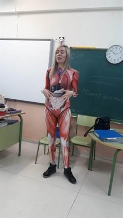 西班牙美女老師「衣不蔽體」教學  嚇傻國小學生