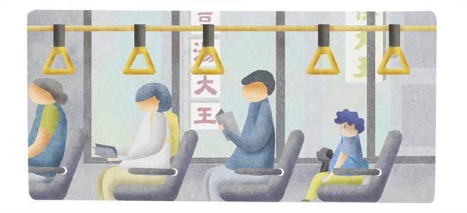 插畫家陳興仲首度嘗試繪製漫畫,在其短篇作品《大王與我》中,描繪幼小的自己尋找外公的旅程。(陳興仲提供/王寶兒台北傳真)