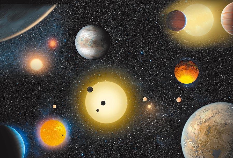 太陽系外行星示意圖。(新華社資料照片)