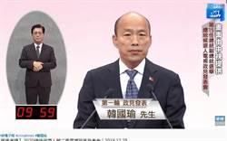 政見會/韓國瑜批:台灣真正危機是蔡總統被架空了