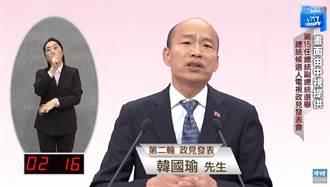 政見會/韓嗆蔡 罷韓遊行非民主常態 質問:民進黨扮演什麼角色?