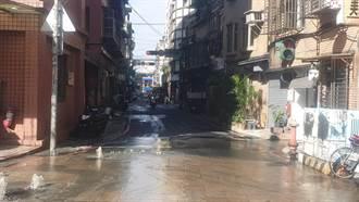 水管爆裂水漫新莊多條路段 民眾請提前改道