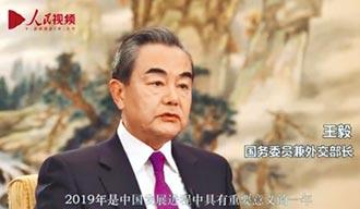 回顧今年外交 王毅:一中更鞏固