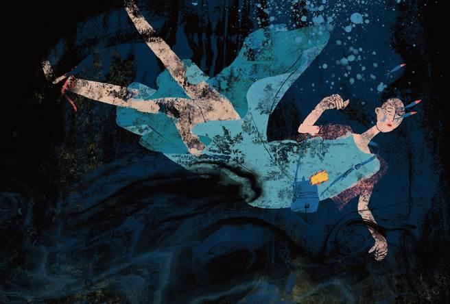 短篇漫畫〈緞帶〉描述了一位面臨愛情消逝的女孩故事。(大塊文化提供/王寶兒台北傳真)