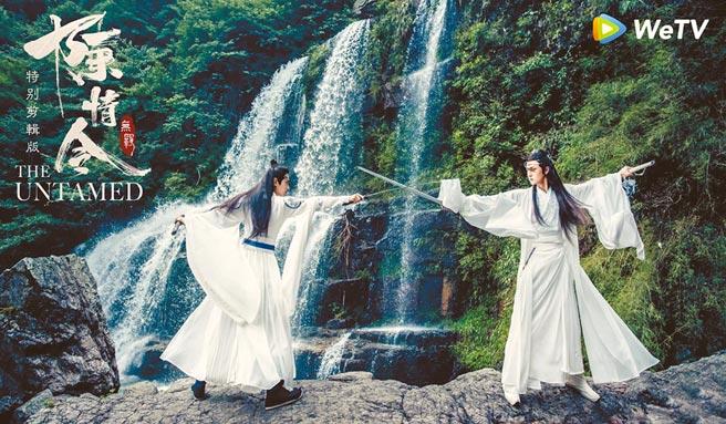 肖戰(左)與王一博演出《陳情令》暴紅,晉升流量男神。(WeTV提供)
