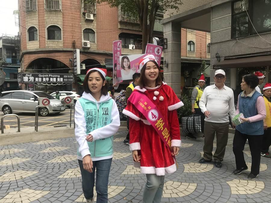 台北市長柯文哲施政表現六都墊底,學姊黃瀞瑩(左):要開始推動更多建設。(戴上容攝)