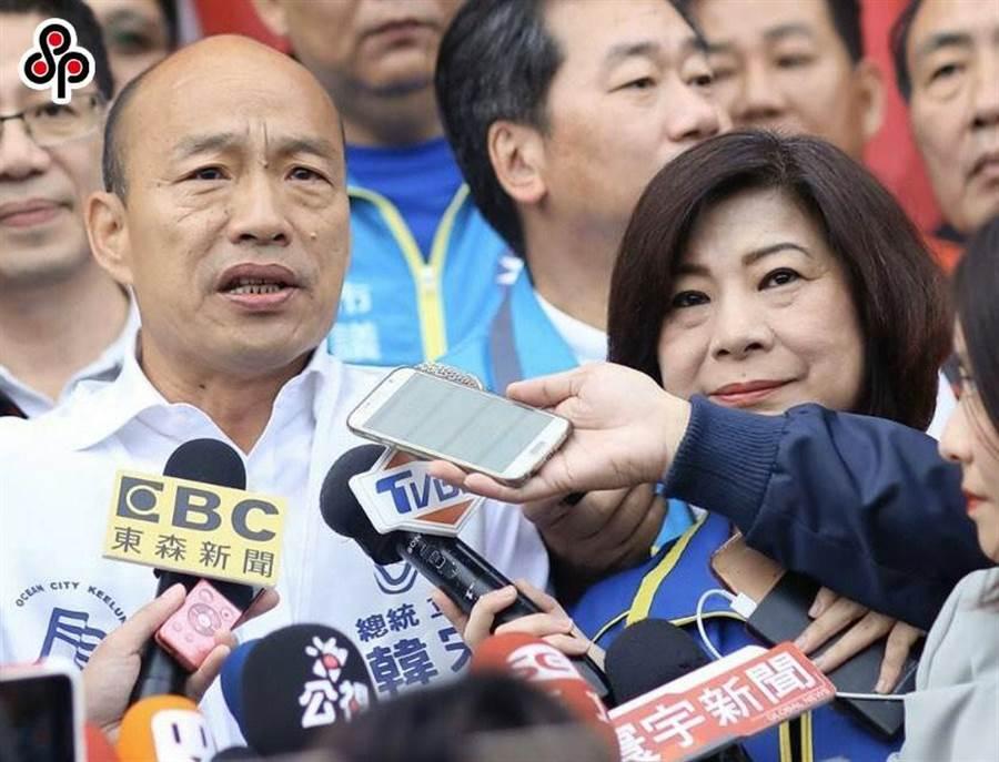 國民黨總統候選人韓國瑜表示,要看清楚台灣真正的問題在於「蔡英文當總統」。(圖/本報系資料照)