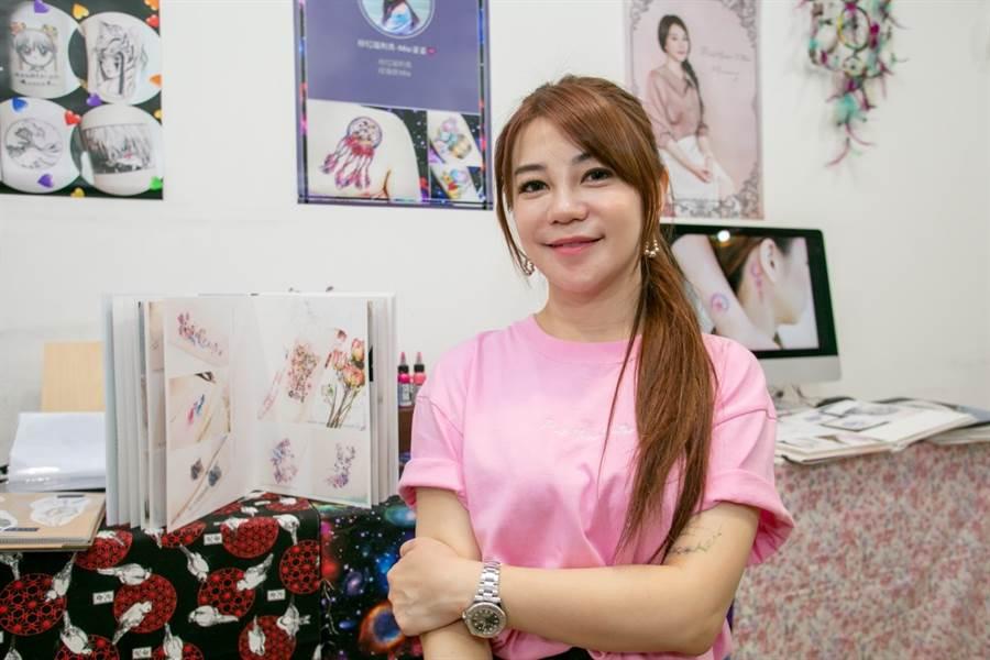 「粉紅喵刺青」創辦人小喵/中時電子報攝