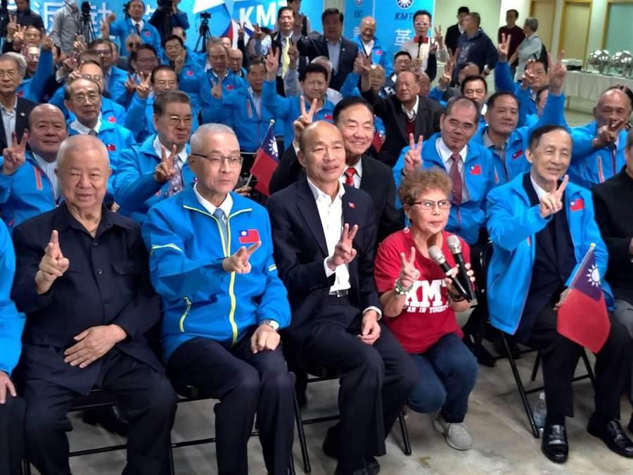 國民黨主席吳敦義也現身參加。(黃福其攝)