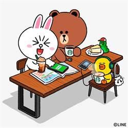 LINE Pay攜手星巴克推集點活動 聯名熊大手機架超萌
