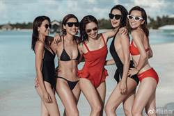 5當紅女星穿比基尼排排站 她大露該邊…網驚超敢穿!