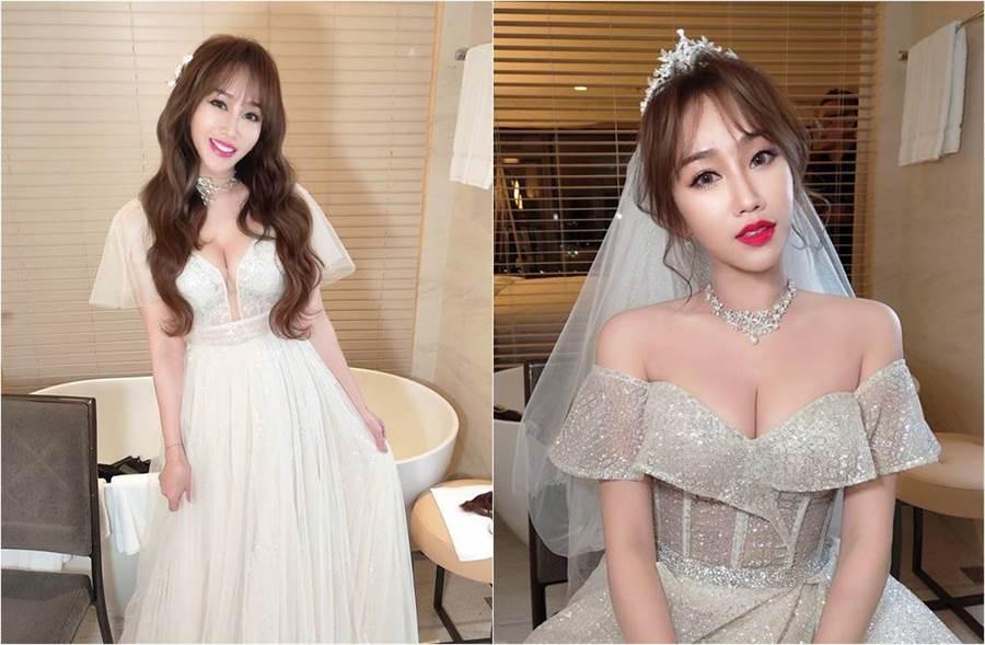 林佩瑤日前喜嫁名廚武俊傑,新婚的她大方在網上回答粉絲提問。(圖/取材自林佩瑤 Pei Yao Lin臉書)