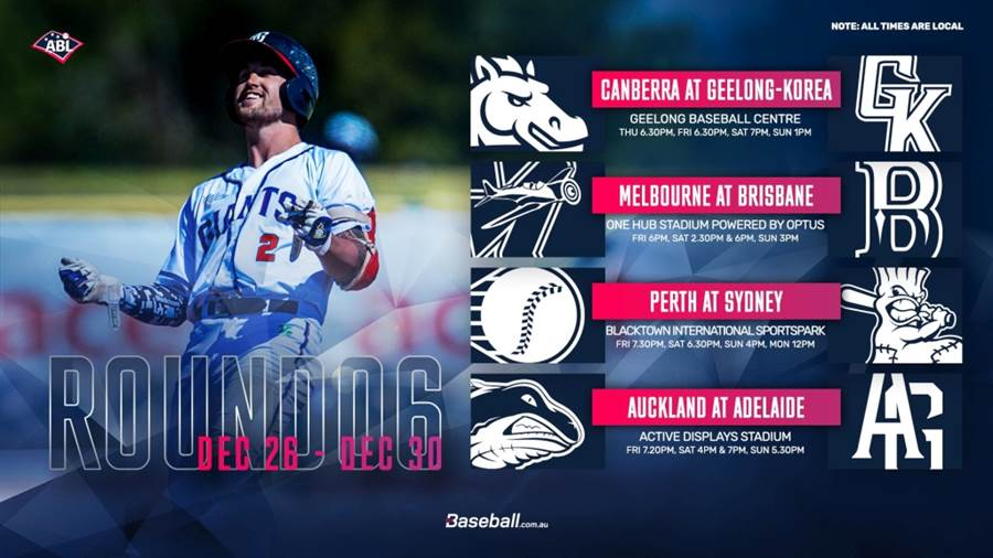 澳洲職棒本周賽程。(摘自澳職推特@ABL)