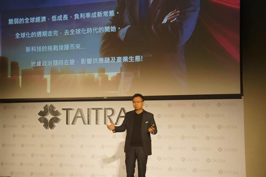 貿協董事長黃志芳26日表示貿協將持續為台灣業者連接國際網絡,媒合國際合作,扮演業者拓展貿易的最佳夥伴。 來源:記者林汪靜攝