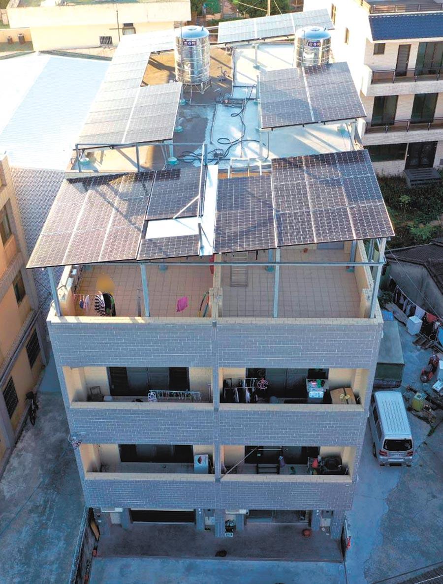 天晴能源在台中神岡的太陽光電案場。圖/天晴提供