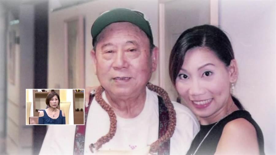 郎祖筠在《聚焦2.0》秀出與父親的合照。(年代提供)