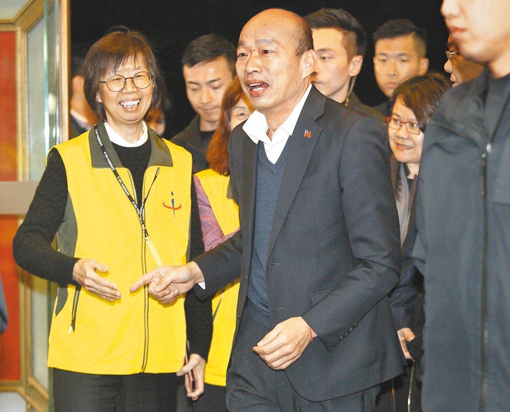 國民黨總統候選人韓國瑜(張鎧乙攝)